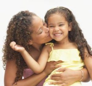 Foster Parent with Happy Foster Child