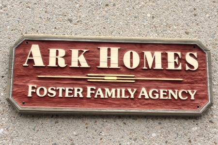 Ark Homes Foster Family Agency Sign